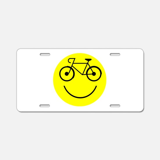 Smiley Cycle Aluminum License Plate