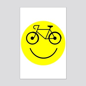 Smiley Cycle Mini Poster Print