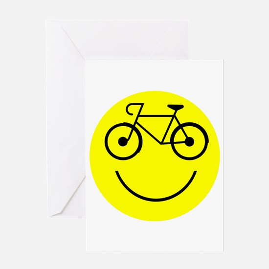 Smiley Cycle Greeting Card
