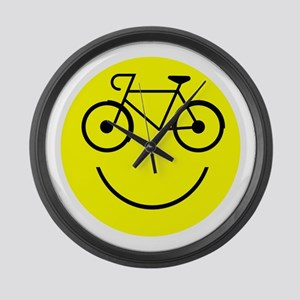 Smiley Cycle Large Wall Clock