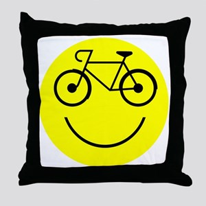 Smiley Cycle Throw Pillow