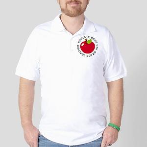 World's Best 4th Grade Teacher Gift Golf Shirt