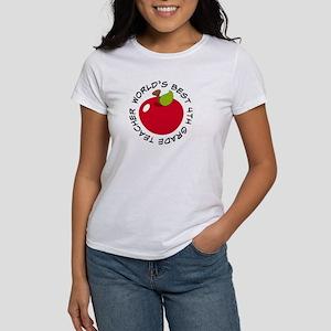 World's Best 4th Grade Teacher Gift Women's T-Shir