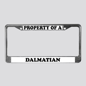 Property Of A Dalmatian License Plate Frame