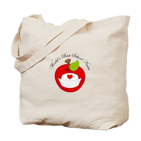 World's Best School Nurse Gift Tote Bag