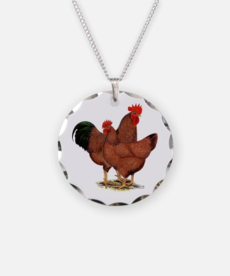 Production Red Chickens Necklace