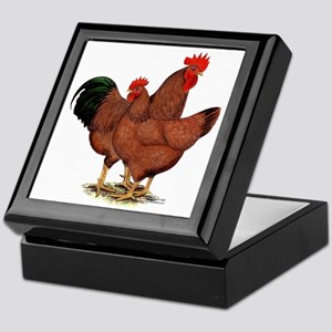 Production Red Chickens Keepsake Box