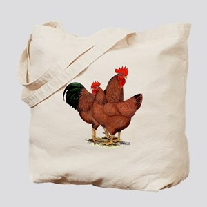 Production Red Chickens Tote Bag