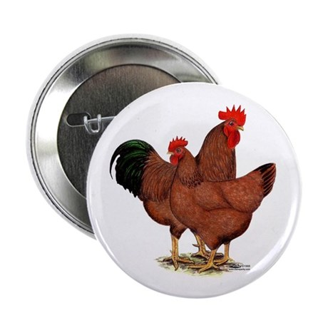"Production Red Chickens 2.25"" Button (100 pac"