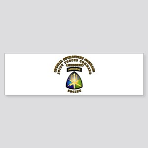 SOF - Joint Forces Command - SSI Sticker (Bumper)