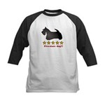 Five-Stars Dog Kids Baseball Jersey