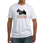 Five-Stars Dog Fitted T-Shirt
