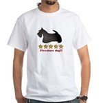 Five-Stars Dog White T-Shirt
