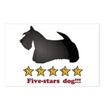 Five-Stars Dog Postcards (Package of 8)