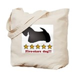 Five-Stars Dog Tote Bag
