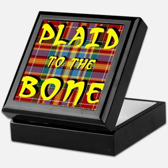 Funny Plaid Keepsake Box