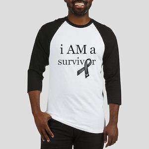 i AM a survivor (Black) Baseball Jersey