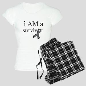 i AM a survivor (Black) Women's Light Pajamas