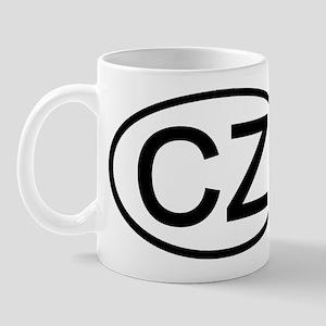 CZ - Initial Oval Mug