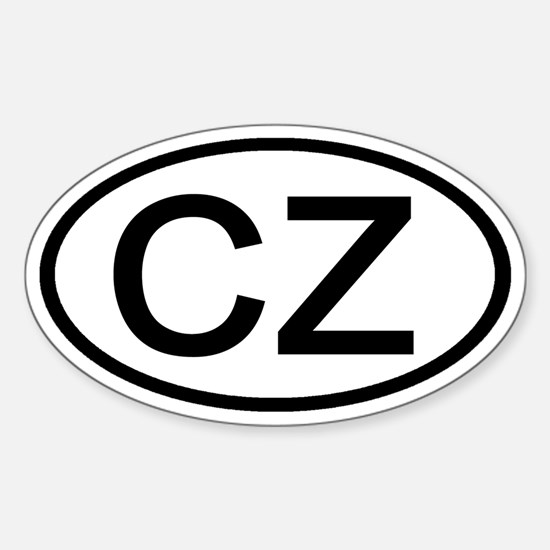CZ - Initial Oval Oval Decal