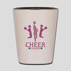3 Cheer Leaders Shot Glass