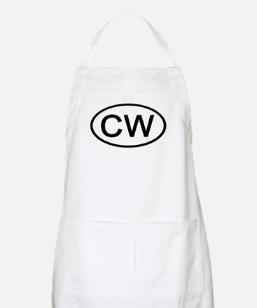 CW - Initial Oval BBQ Apron