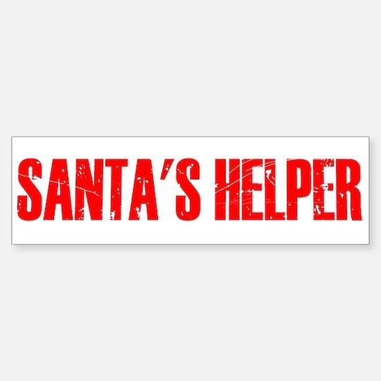 Santa's Helper Sticker (Bumper)