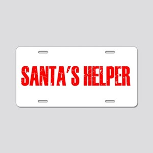 Santa's Helper Aluminum License Plate