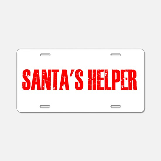 Santa's Helper Aluminum License Plate