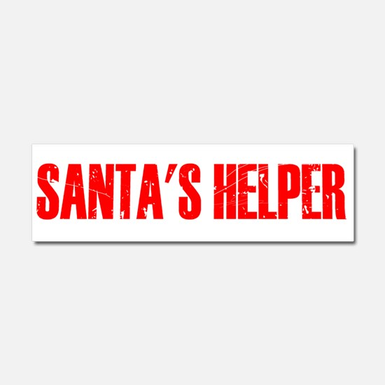 Santa's Helper Car Magnet 10 x 3
