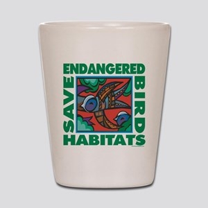 Save Bird Habitats Shot Glass