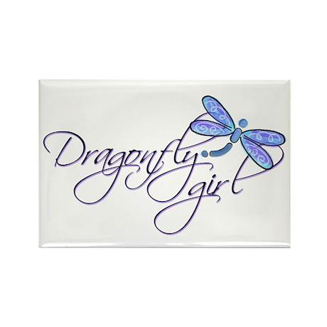 Dragonfly Girl Rectangle Magnet