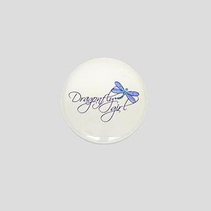 Dragonfly Girl Mini Button