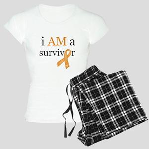i AM a survivor (Orange) Women's Light Pajamas