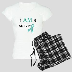 i AM a survivor (Teal) Women's Light Pajamas