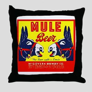 Missouri Beer Label 1 Throw Pillow