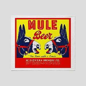 Missouri Beer Label 1 Throw Blanket