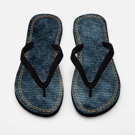 Double stitched Denim Flip Flops