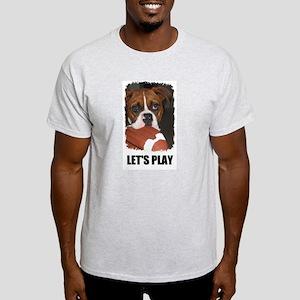 LET'S PLAY (BOXER) Ash Grey T-Shirt
