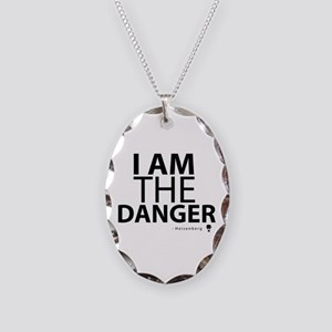 'I Am The Danger' Necklace Oval Charm