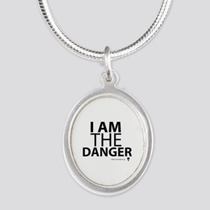 'I Am The Danger' Silver Oval Necklace