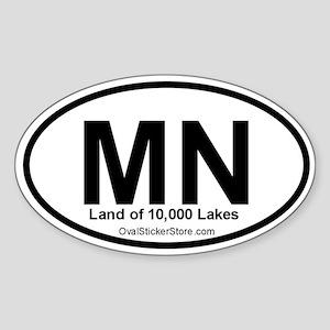Minnesota Oval Sticker