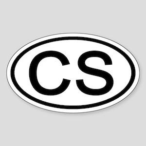 CS - Initial Oval Oval Sticker