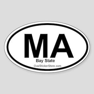 Massachusetts Oval Sticker