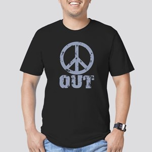 Peace Out Men's Fitted T-Shirt (dark)