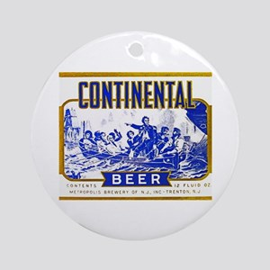 New Jersey Beer Label 3 Ornament (Round)