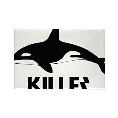Killer Whale Rectangle Magnet (100 pack)
