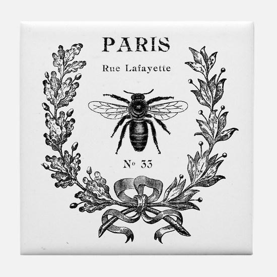 PARIS BEE Tile Coaster