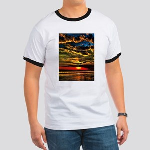 Painted Evening Sky Ringer T
