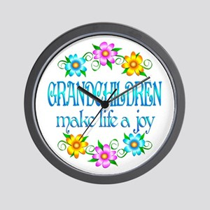 Grandchildren Joy Wall Clock